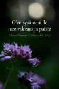 Olen sydämeni ilo sen rakkaus sen paiste, mäkimeirami voimakortti, runotalo.fi