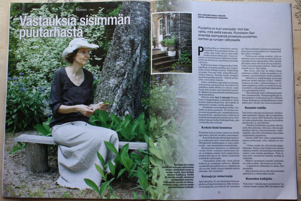 Sielunpeili lehdessä Runotalon Sari